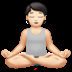 🧘🏻 person in lotus position: light skin tone Emoji on Apple Platform