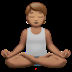 Person In Lotus Position: Medium Skin Tone