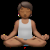 Person In Lotus Position: Medium-dark Skin Tone