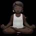 Person In Lotus Position: Dark Skin Tone
