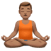 Medium Skin Tone Man In Lotus Position