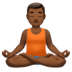Medium Dark Skin Tone Man In Lotus Position