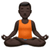 🧘🏿‍♂️ man in lotus position: dark skin tone Emoji on Apple Platform