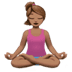 Woman In Lotus Position: Medium Skin Tone