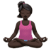 🧘🏿‍♀️ woman in lotus position: dark skin tone Emoji on Apple Platform