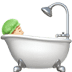 🛀🏻 person taking bath: light skin tone Emoji on Apple Platform