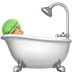 🛀🏼 person taking bath: medium-light skin tone Emoji on Apple Platform