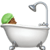 🛀🏾 person taking bath: medium-dark skin tone Emoji on Apple Platform