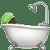 Dark Skin Tone Person Taking Bath
