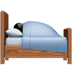 🛌🏿 person in bed: dark skin tone Emoji on Apple Platform
