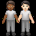 🧑🏾‍🤝‍🧑🏻 people holding hands: medium-dark skin tone, light skin tone Emoji on Apple Platform