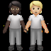 People Holding Hands: Dark Skin Tone, Medium-light Skin Tone