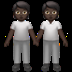 🧑🏿‍🤝‍🧑🏿 people holding hands: dark skin tone Emoji on Apple Platform
