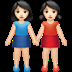 👭🏻 women holding hands: light skin tone Emoji on Apple Platform