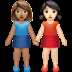 Women Holding Hands: Medium Skin Tone, Light Skin Tone