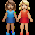 👩🏽‍🤝‍👩🏼 women holding hands: medium skin tone, medium-light skin tone Emoji on Apple Platform