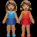 Women Holding Hands: Medium Skin Tone