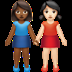 👩🏾‍🤝‍👩🏻 women holding hands: medium-dark skin tone, light skin tone Emoji on Apple Platform
