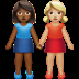 Medium Dark Skin Tone And Medium Light Skin Tone Women Holding Hands