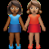 Medium Dark Skin Tone And Medium Skin Tone Women Holding Hands