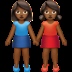 Women Holding Hands: Medium-dark Skin Tone