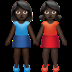 Dark Skin Tone Women Holding Hands