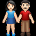 👫🏻 woman and man holding hands: light skin tone Emoji on Apple Platform