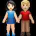 👩🏻‍🤝‍👨🏼 woman and man holding hands: light skin tone, medium-light skin tone Emoji on Apple Platform