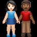 Woman And Man Holding Hands: Light Skin Tone, Medium-dark Skin Tone