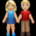 Woman And Man Holding Hands: Medium-light Skin Tone