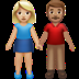Woman And Man Holding Hands: Medium-light Skin Tone, Medium Skin Tone
