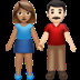 👩🏽‍🤝‍👨🏻 woman and man holding hands: medium skin tone, light skin tone Emoji on Apple Platform