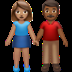 Woman And Man Holding Hands: Medium Skin Tone, Medium-dark Skin Tone