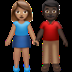 Woman And Man Holding Hands: Medium Skin Tone, Dark Skin Tone