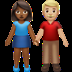 👩🏾‍🤝‍👨🏼 woman and man holding hands: medium-dark skin tone, medium-light skin tone Emoji on Apple Platform