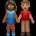 👩🏾‍🤝‍👨🏽 woman and man holding hands: medium-dark skin tone, medium skin tone Emoji on Apple Platform