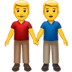 👬 men holding hands Emoji on Apple Platform