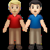 Men Holding Hands: Medium-light Skin Tone, Light Skin Tone