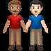 Medium Skin Tone And Light Skin Tone Men Holding Hands