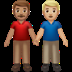 👨🏽‍🤝‍👨🏼 men holding hands: medium skin tone, medium-light skin tone Emoji on Apple Platform