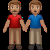 Men Holding Hands: Medium Skin Tone