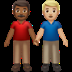 👨🏾‍🤝‍👨🏼 men holding hands: medium-dark skin tone, medium-light skin tone Emoji on Apple Platform