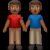 👬🏾 men holding hands: medium-dark skin tone Emoji on Apple Platform