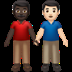 Men Holding Hands: Dark Skin Tone, Light Skin Tone