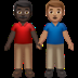 👨🏿‍🤝‍👨🏽 men holding hands: dark skin tone, medium skin tone Emoji on Apple Platform