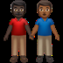 👨🏿‍🤝‍👨🏾 men holding hands: dark skin tone, medium-dark skin tone Emoji on Apple Platform