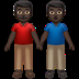 👬🏿 Dark Skin Tone Men Holding Hands Emoji on Apple Platform