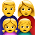👨‍👩‍👧‍👦 family: man, woman, girl, boy Emoji on Apple Platform