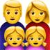 👨‍👩‍👧‍👧 family: man, woman, girl, girl Emoji on Apple Platform