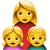 👩‍👧‍👦 family: woman, girl, boy Emoji on Apple Platform